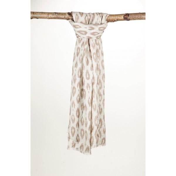 Wollschal 80% Wolle 20% Silk 70X200 cm Beige