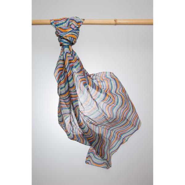 Cotton Printed Pareo 100% Cotton 105x180 cm Indigo/Rostbraun