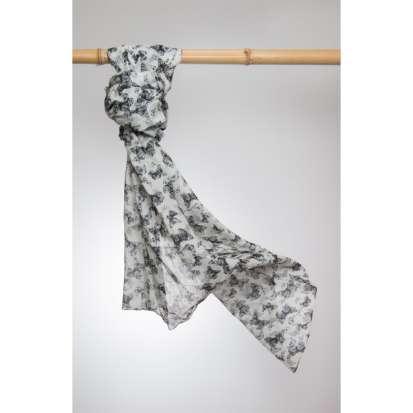 Cotton Printed Pareo 100% Cotton 105x180 cm Grau
