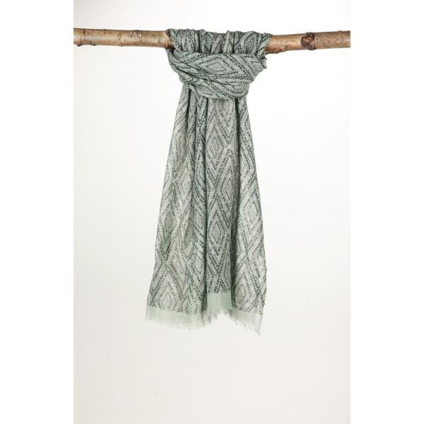 Wollschal 100 % Wolle 70X180cm Reines Grau