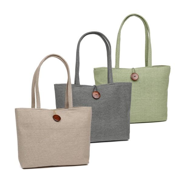Fenner-Fashion Shopper Handtasche Umhängetasche Damenhandtasche Stoffhandtasche Tallin