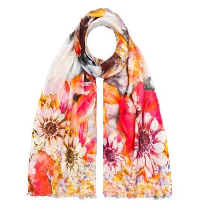 Schal Digitalprint 90% cotton / 10% Silk 70 x 180 cm