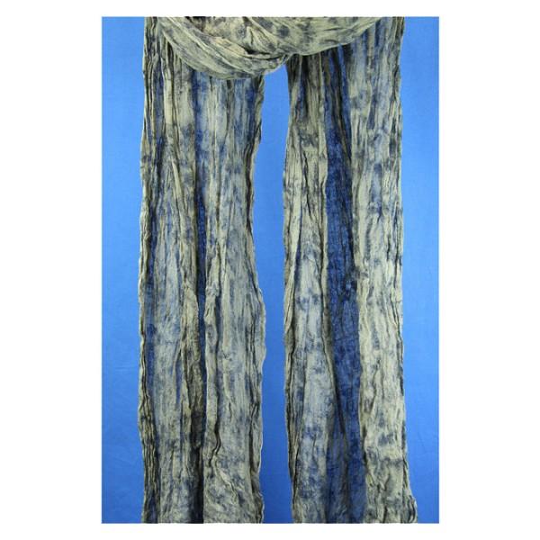 Wollschal mit Farbmuster 100% Feinwolle 30 x 160 cm Grün / Blau Farbverlauf