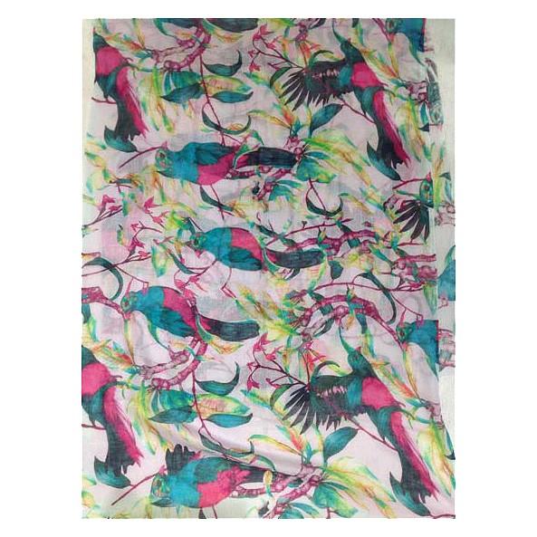Baumwoll-/Seidenschal Digitaldruck 90% Baumwolle / 10% Seide 70 x 180 cm