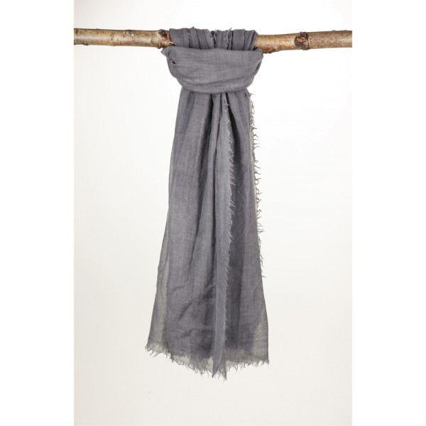 Wollschal 90% Wolle 10% Silk 100X190 cm Anthrazit