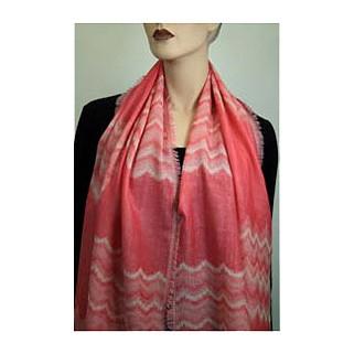Woll-/Tencelschal 50%Wolle / 50% Tencel 55 x 175 cm Pink Melange