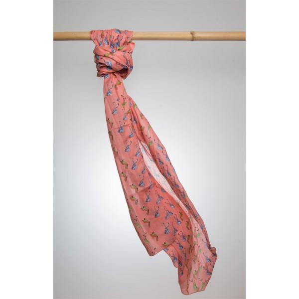 Cotton Printed Pareo 100% Cotton 105x180 cm Pink