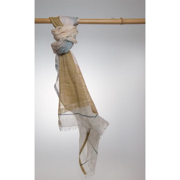 Cottonschal 74% Cotton/16% Modal/10% Leinen 100X180 cm