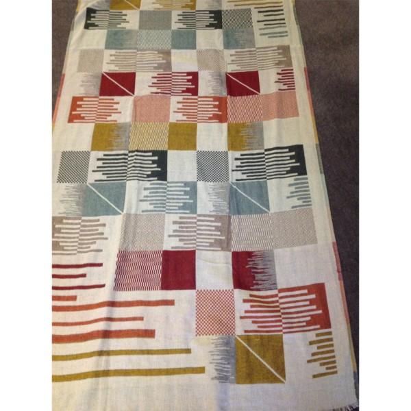 Ponchoschal 60%Cotton/30%Acrylic/10% Wolle 90 x 190 cm