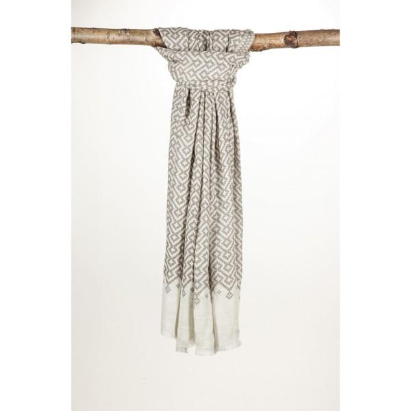 Wollschal 80% Wolle 20% Silk 70X200 cm Braun