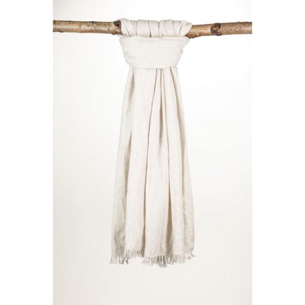 Wollschal 70% Wolle 30% Cotton 70X200 cm Off White
