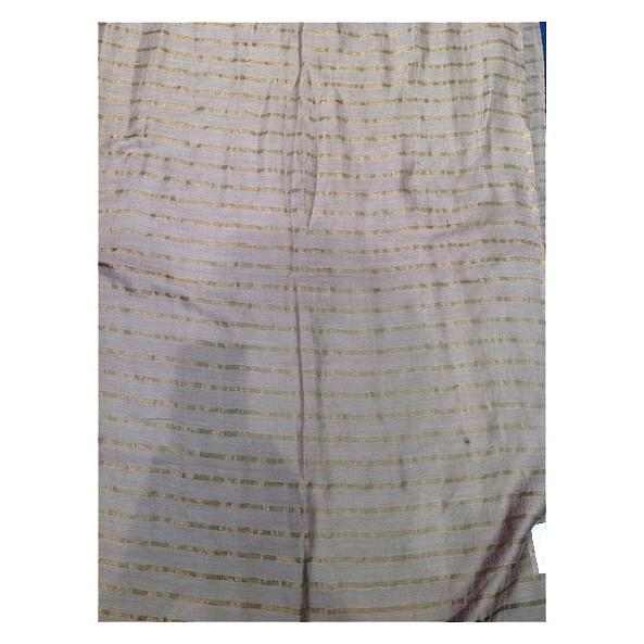 Wollschal 90% Lammwolle/10%Seide 70 x 180 cm Streifen-Unisex Grau
