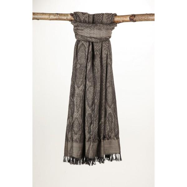 Wollschal 50%Cotton/50%Wolle 100X180 cm Animal Braun Schwarz