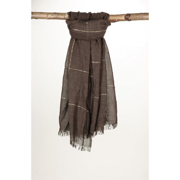 Wollschal 50%Cotton/50%Wolle 100X180 cm Braun