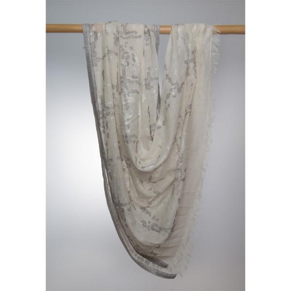 Cotton-Modalschal 82% Cotton/18% Lurex 100X180 cm