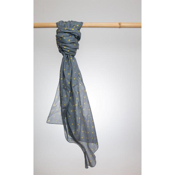 Cotton Printed Pareo 100% Cotton 105x180 cm Base/Senfgelb