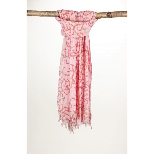 Wollschal 90%Wolle 10% Silk 100X200 cm Rosa