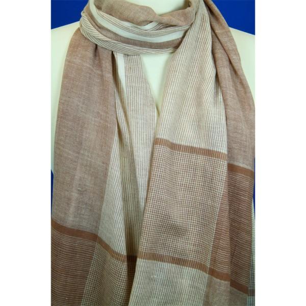 UNISEX - Cottonschal gestreift Baumwolle 50 x 180 cm
